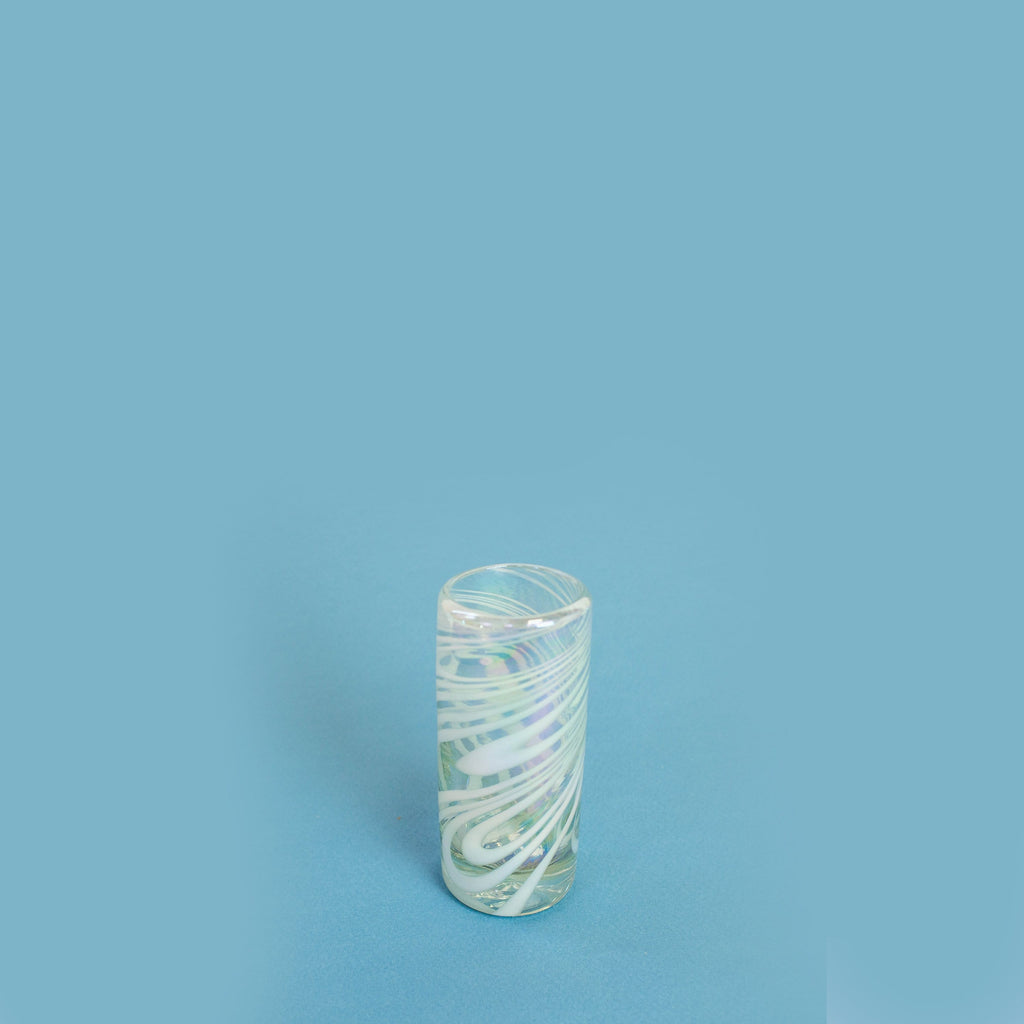 Tall Shot Glass - Iridescent Swirl