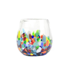 Free Stemless Handblown Wine Glass - Colorful