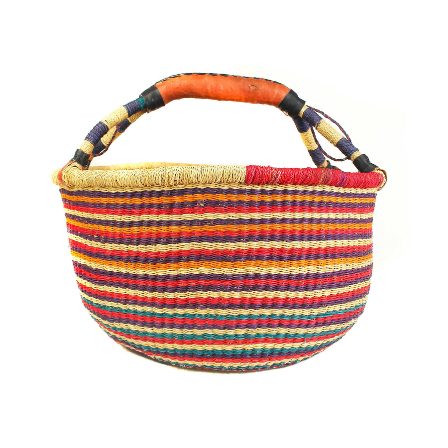 Handwoven Large Basket - Assorted Rainbow