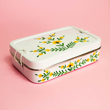 Rectangle Tiffin - White Floral