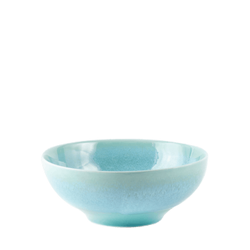 Medium Reactive Glaze Bowl - Turquoise