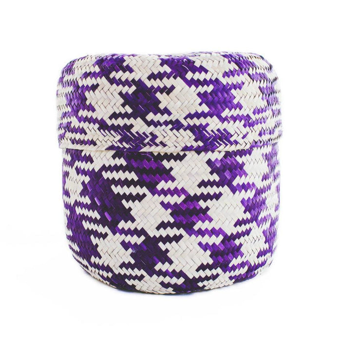 Gallito Palm Leaf Basket - Purple