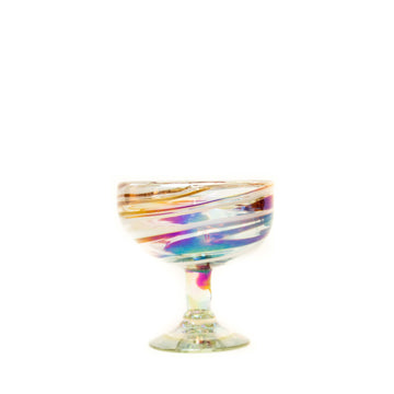Coupe Cocktail Glass - Tropical Swirl