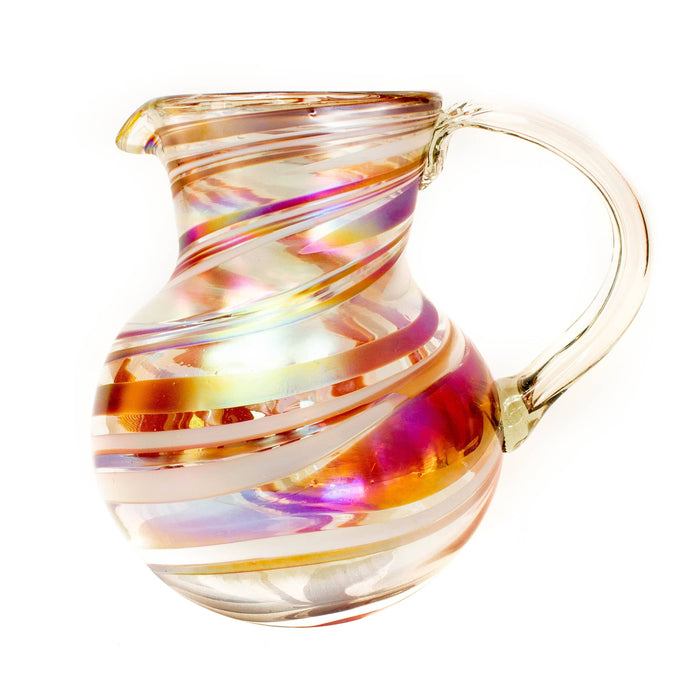 Large Iced Tea Pitcher - Tropical Swirl