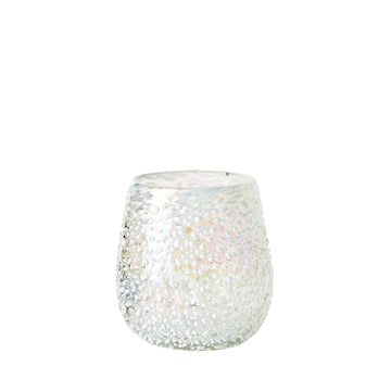 Stemless Handblown Wine Glass - White Lustre