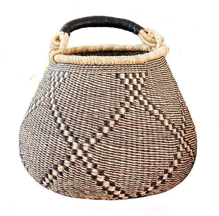 Handwoven Teardrop Market Basket - Assorted Natural Set of 2