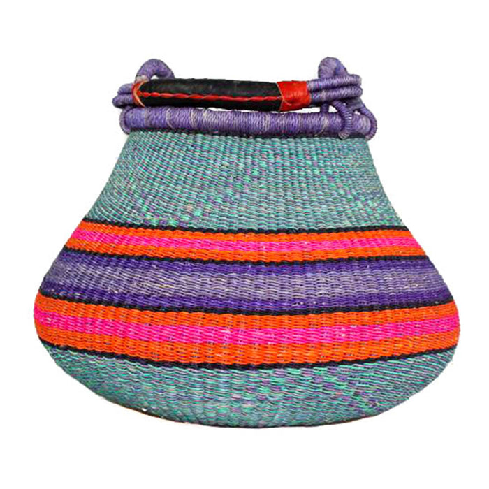 Handwoven Teardrop Basket - Assorted Purple