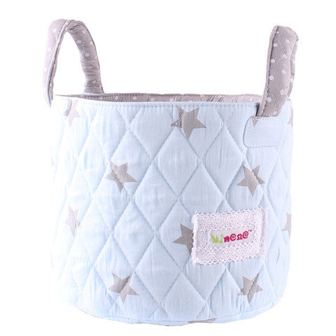 Minene Small Storage Basket Shiny Stars Baby Blue