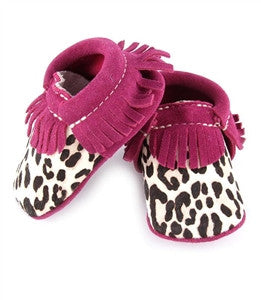 Exotic Moccasins - Hot Pink