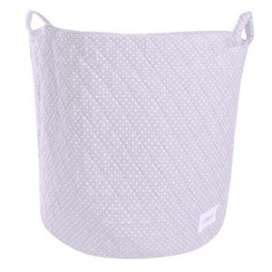 Minene Small Storage Basket Mid Grey White Dots