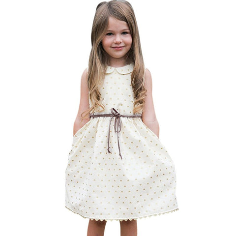 Summer Toddler Kids Baby Girls Dress Sleeveless Cute Princess Party Pageant Dresses