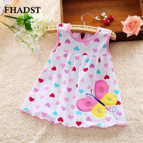 2016 Cute Vestido infantil Baby Girl Dress Cotton Regular Sleeveless A-Line Dresses Casual Clothing Minin Princess 3-18 Months