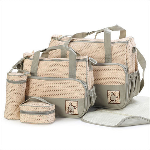 New High-quality 5 each / set hand bags Diaper Nappy Durable Bag Mummy Bag Baby Bags for Mom 8 Color