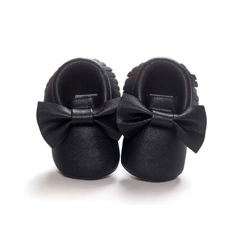 2017 Unisex Toddlers Baby Shoes Soft Soled Tassel PU Leather Crib Shoes  Prewalker Bow Shoe First 169281ce1f22