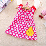 Top Quality Baby Dresses 2017 Princess  0-1years Girls Dress Cotton Clothing Dress Summer Girls Clothes Low Price