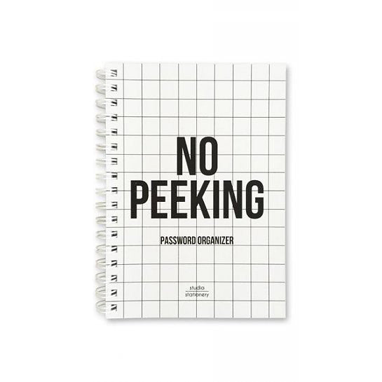 NO PEEKING PASSWORD ORGANIZER