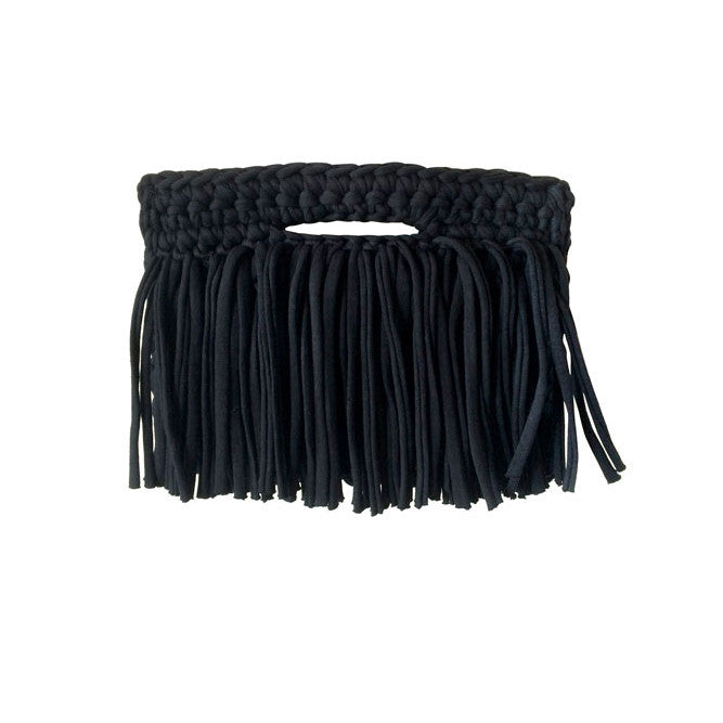 FRINGE CLUTCH OVER BAG