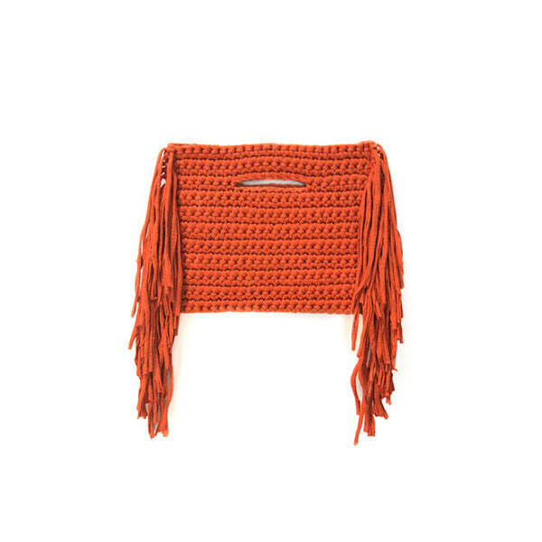 FRINGE CLUTCH ON SIDES