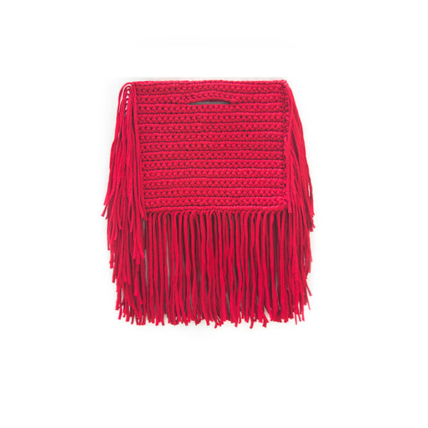 FRINGE CLUTCH AROUND BAG