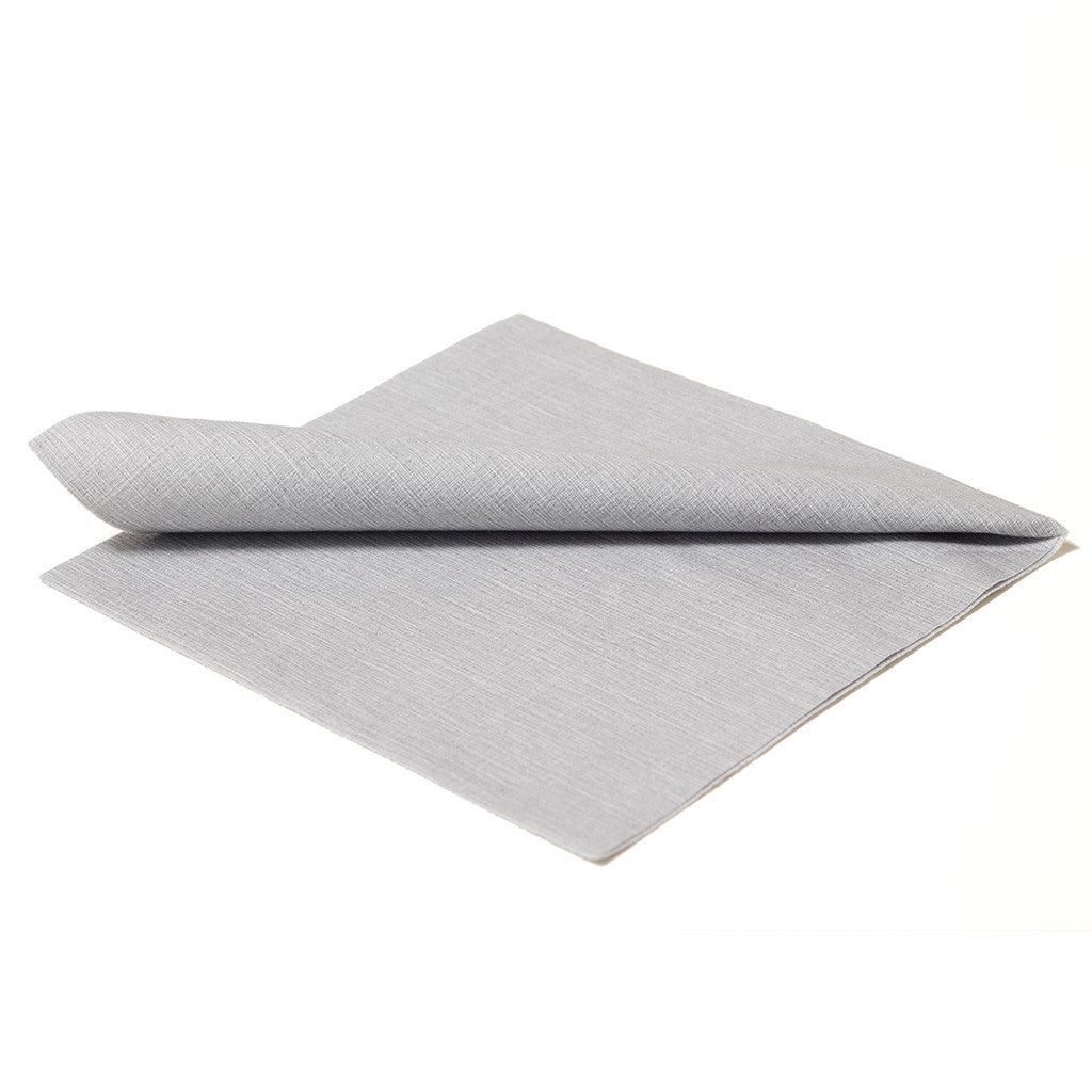 DELUXE CLASSIC SILVER GREY - 20 NAPKINS PACK