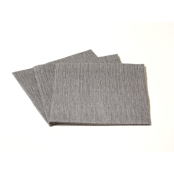 DELUXE COCKTAIL DARK GREY - 20 NAPKINS PACK