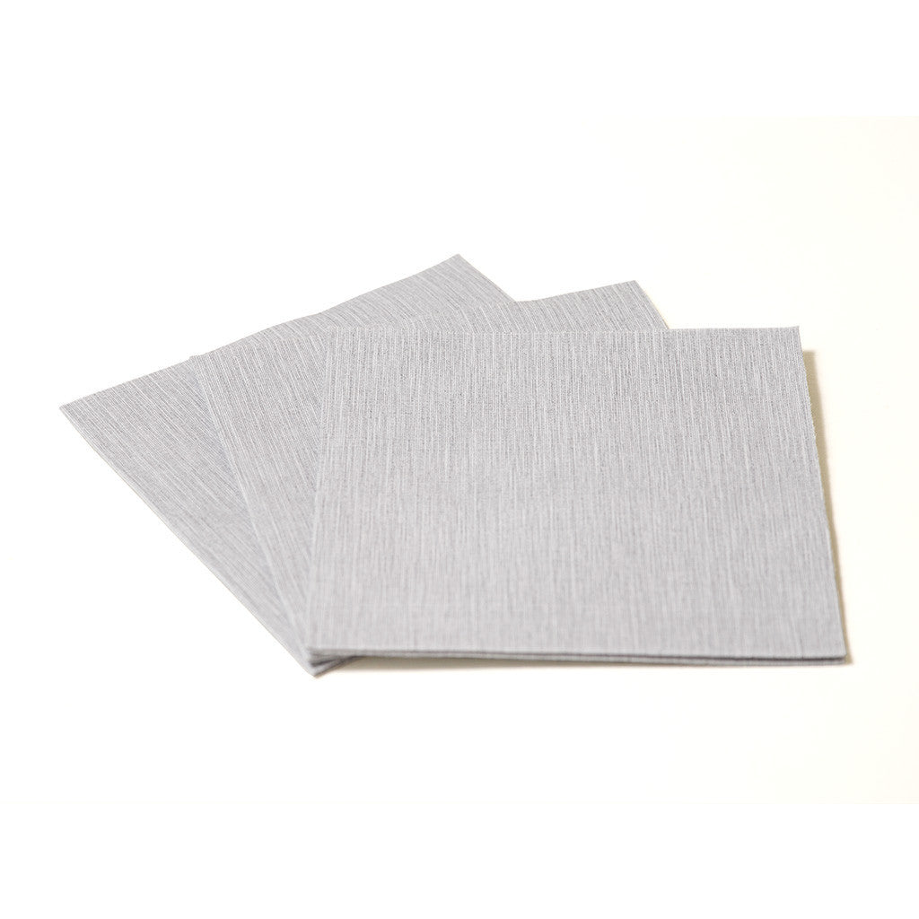 DELUXE COCKTAIL SILVER GREY - 20 NAPKINS PACK