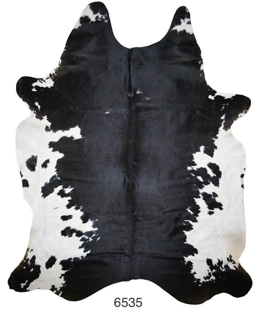Black and White Brazilian Hair on Cowhide (Extra-Large)