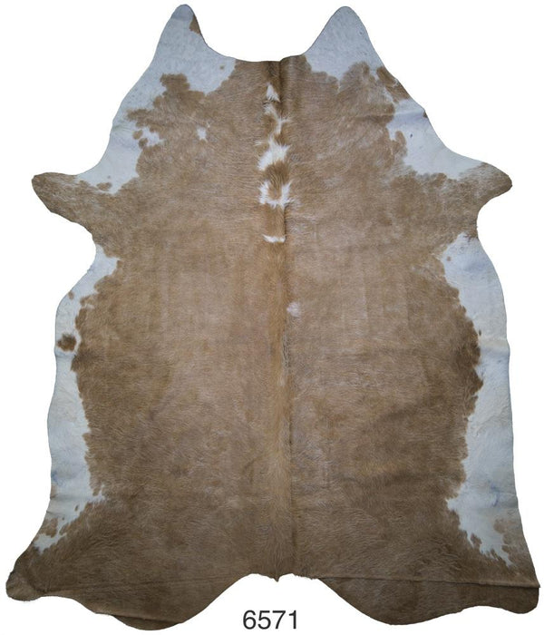 Brown and White Brazilian Hair on Cowhide (Extra-Large)