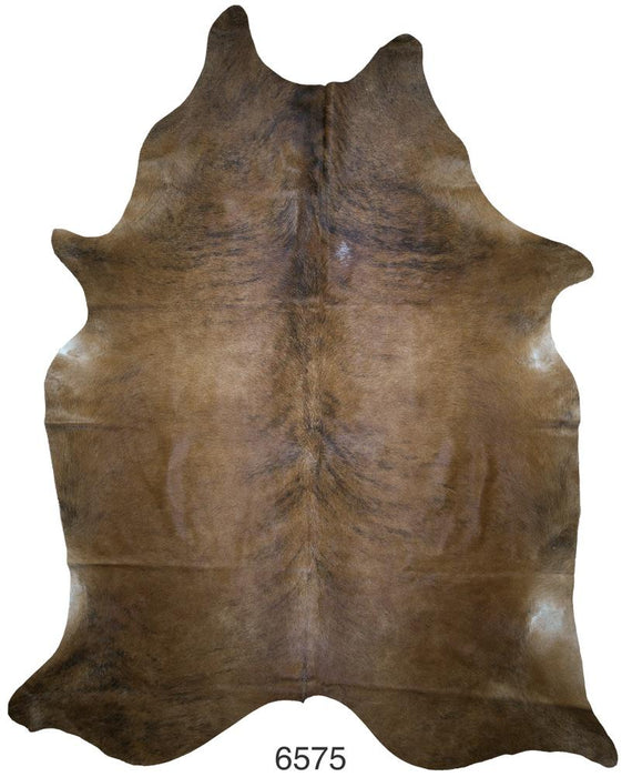 Brindle Brazilian Hair on Cowhide (Extra-Large)