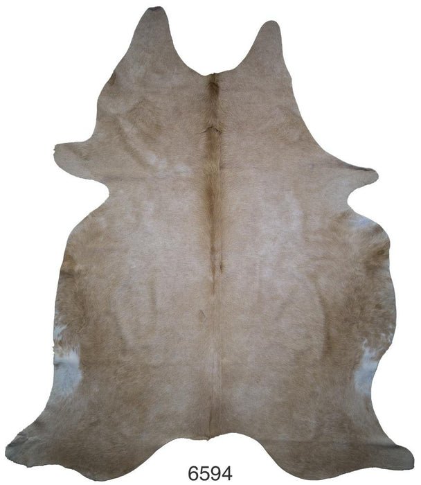 Brown and White Brazilian Hair on Cowhide (Large)