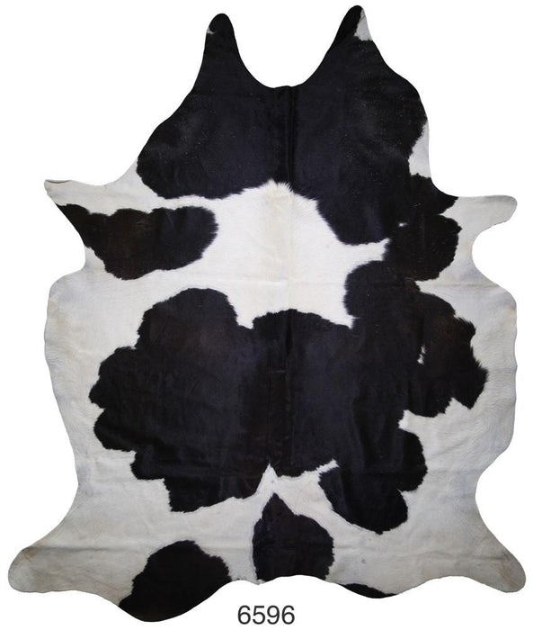 Black and White Brazilian Hair on Cowhide (Large)