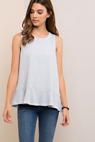 Babydoll Tank With Tie Back Detail
