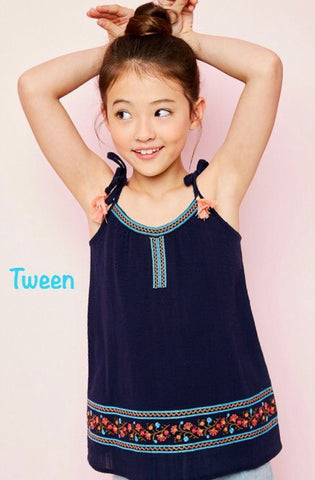 Tween - Embroidered Tank
