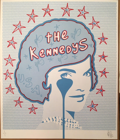 The Kennedys<br>Unique Hand Embellished Limited Edition Screenprint 1/1