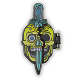 Gore Skull Folding Lapel Pin