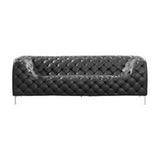 Providence Sofa Black Leatherette