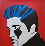Pure Elvis - King of Rock<br>Unique 1/1 handfinished screenprint