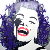 Screaming Marilyn<br>Unique 1/1 handfinished screenprint