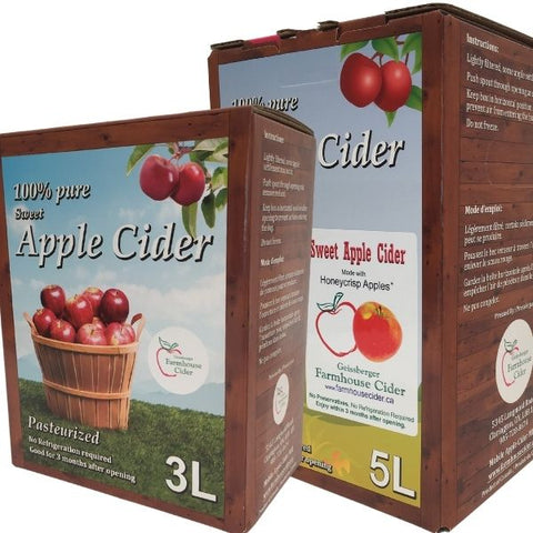 Apple Ciders - 4 Flavours (Bag-in-Box) 3 litres or 5 litres boxes