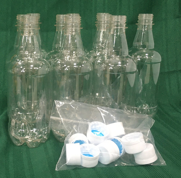 PET Bottle with caps (10/package)