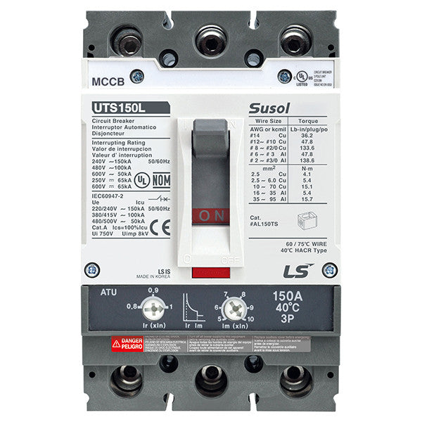 Susol UTS150 (100% Rated) Molded Case Circuit Breaker (MCCB)