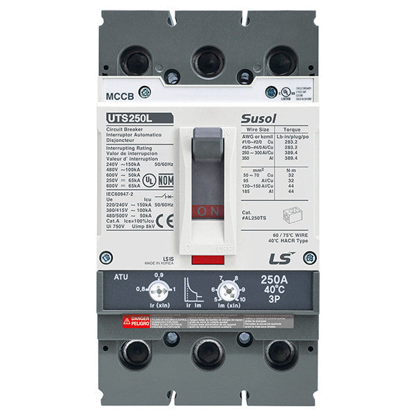 Susol UTS250 (100% Rated) Molded Case Circuit Breaker (MCCB)