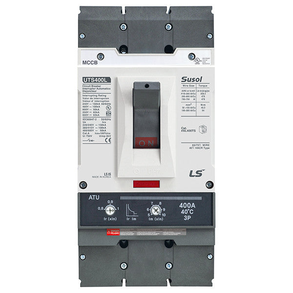 Susol UTS400 (100% Rated) Molded Case Circuit Breaker (MCCB)