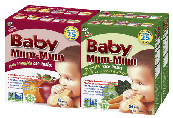 BABY MUM MUM APPLE & PUMPKIN/ VEGETABLE COMBO PACK (4 BOXES)
