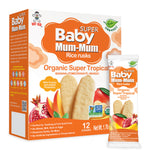 BABY MUM-MUM ORGANIC SUPER TROPICAL RICE RUSKS - 6 BOXES