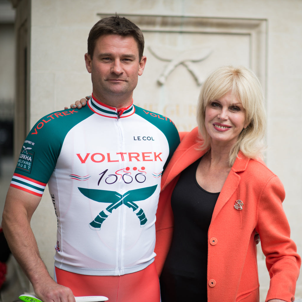 Joanna Lumley support Voltrek1000 | Le Col Cycling