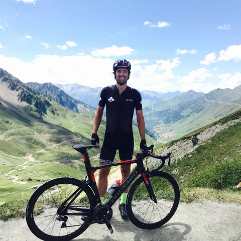 Yanto Barker at the Top of The Col du Tourmalet