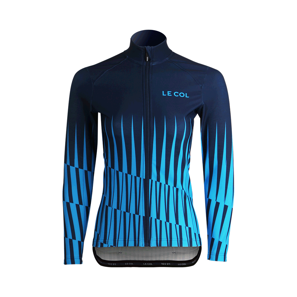 Womens Aqua Zero Long Sleeve Jersey - Navy/Ice Blue