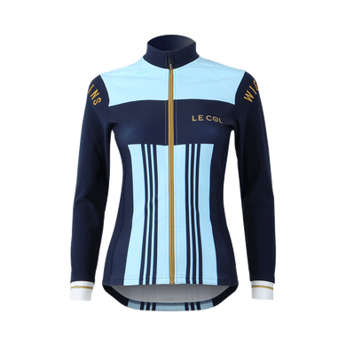 Womens Le Col By Wiggins Pro Aqua Zero Stripe Long Sleeve Jersey