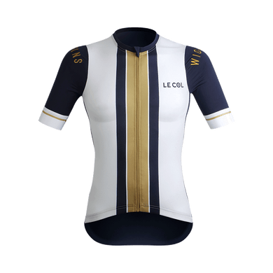 Womens Le Col By Wiggins Pro Gold Stripe Jersey